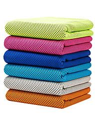 abordables -Serviette de Refroidissement Sans odeur Economique Doux Microfibre pour Yoga Pilates Bikram Rose Bleu marine Gris
