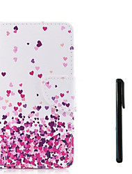 cheap -Case For Apple iPhone X / iPhone 8 Plus / iPhone 8 Wallet / Card Holder / Flip Full Body Cases Heart Hard PU Leather