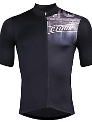 cheap -SPAKCT Men's Short Sleeve Cycling Jersey Elastane Black Bike Jersey Mountain Bike MTB Road Bike Cycling Quick Dry Sports Clothing Apparel / Stretchy / Advanced / Expert / Advanced / Expert