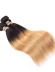 cheap -Virgin Human Hair / Remy Human Hair Hair weave Man Weave Straight Brazilian Hair 300 g 12 Months Festival