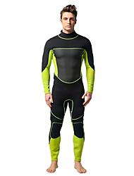 cheap -YON SUB Men's Full Wetsuit 3mm Neoprene Diving Suit Thermal / Warm Waterproof Long Sleeve Back Zip - Swimming Diving Spring Summer Fall / Winter