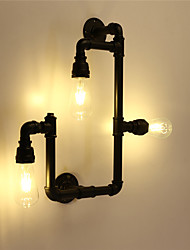 cheap -Vintage Industrial Pipe Wall Lights Black Creative Lights Restaurant Cafe Bar Decoration lighting With 3 Light Painted Finish