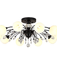 cheap -LightMyself™ 10-Light 78 cm Crystal / Matte Chandelier / Pendant Light Metal Glass Painted Finishes Nature Inspired / Chic & Modern 110-120V / 220-240V / G9