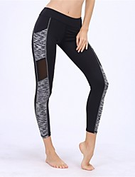 cheap -BARBOK Women's Pocket Yoga Pants Fashion Mesh Elastane Zumba Running Fitness Tights Activewear Breathable Quick Dry Stretchy