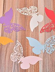 Недорогие -Держатели для карточек Плотная бумага Свадебные украшения Свадьба / Для вечеринок Бабочки / Свадьба / Семья Все сезоны