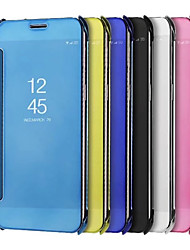 cheap -Case For Samsung Galaxy A8 2018 / A8+ 2018 Plating / Mirror Full Body Cases Solid Colored Hard PU Leather