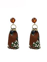 cheap -Women's Drop Earrings Ladies Bohemian Sweet Fashion Boho Earrings Jewelry Brown For Gift Daily