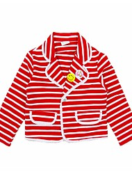 cheap -Toddler Girls' Active Daily Holiday Striped Long Sleeve Regular Cotton Suit & Blazer White