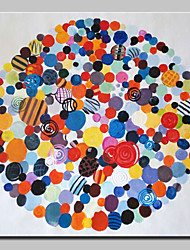 cheap -Mintura® Hand-Painted Abstract Circle Oil Painting On Canvas Wall Art Picture For Home Decoration Ready To Hang