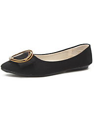 cheap -Women's Flats Flat Heel PU Comfort Spring / Fall Black / Red / Pink