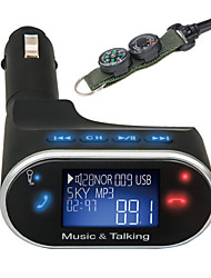 cheap -630C Universal LCD Bluetooth Car Kit MP3 Player FM Transmitter SD USB Charger Handsfree with Compass