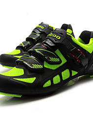 cheap -Tiebao® Road Bike Shoes Carbon Fiber Anti-Slip Cycling Green / Black Men's Cycling Shoes / Breathable Mesh / Hook and Loop