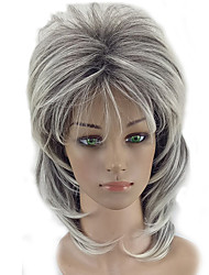 cheap -Synthetic Wig Curly Curly Layered Haircut Wig Medium Length Grey Synthetic Hair Women's Ombre Hair Gray hairjoy