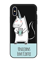 cheap -Case For Apple iPhone X / iPhone 8 Plus / iPhone 8 Pattern Back Cover Animal / Cartoon Soft TPU