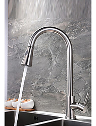 cheap -Kitchen faucet - Single Handle One Hole Nickel Polished Pull-out / ­Pull-down