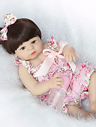 cheap -NPKCOLLECTION NPK DOLL Reborn Doll Baby 22 inch Full Body Silicone Silicone Vinyl - Newborn lifelike Cute Hand Made Child Safe New Design Kid's Unisex / Girls' Toy Gift / Natural Skin Tone