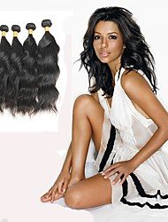 Недорогие -4 Связки Индийские волосы Естественные волны человеческие волосы Remy Человека ткет Волосы Ткет человеческих волос Расширения человеческих волос / 10A