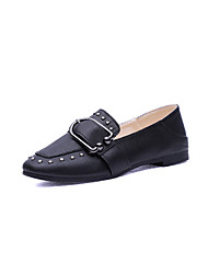 cheap -Women's Heels Comfort Shoes Classic Loafers Stiletto Heel Pointed Toe Comfort Basic Pump Dress Party & Evening Office & Career PU Buckle Summer Yellow White Black