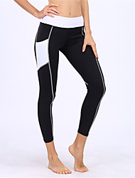 cheap -BARBOK Women's Pocket Yoga Pants Fashion Elastane Zumba Running Fitness Tights Leggings Activewear Breathable Quick Dry Butt Lift Tummy Control Stretchy