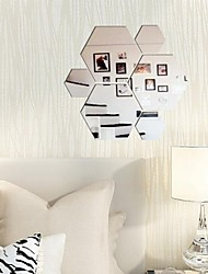 cheap -Shapes Wall Stickers Mirror Wall Stickers Decorative Wall Stickers, Vinyl Home Decoration Wall Decal Wall Decoration 11pcs / Removable