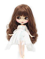 cheap -12 inch Girl Doll Ball-joined Doll / BJD Blythe Doll Baby Girl lifelike Cute Child Safe Non Toxic Hand Applied Eyelashes Plastics Nude Factory 30CM with Clothes and Accessories for Girls' Birthday