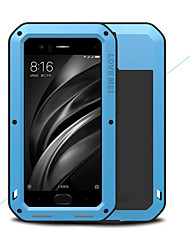 cheap -Case For Xiaomi Xiaomi Mi 6 Water / Dirt / Shock Proof Full Body Cases Solid Colored Hard Metal