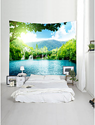 cheap -Garden Theme Landscape Wall Decor 100% Polyester Contemporary Modern Wall Art, Wall Tapestries Decoration