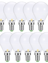 abordables -EXUP® 10pcs 7 W 680 lm E14 / E26 / E27 Ampoules Globe LED G45 6 Perles LED SMD 2835 Décorative Blanc Chaud / Blanc Froid 220-240 V / 110-130 V / 10 pièces / RoHs / CCC / ERP / LVD