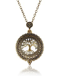 cheap -Men's Pendant Necklace Layered Tree of Life life Tree Oversized Steampunk Metal Alloy Ancient Bronze Necklace Jewelry One-piece Suit For Party / Evening Evening Party