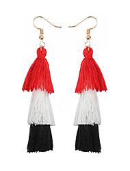 cheap -Women's Drop Earrings Hanging Earrings Tassel Ladies Tassel Bohemian Boho Earrings Jewelry Green / Light Pink / Royal Blue For Party / Evening Club