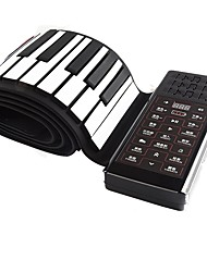 cheap -Roll Up Piano Electronic Keyboard 61 Keys Silicone Rechargeable Portable Midi USB Musical Instrument Best Gift for Kids and Beginners