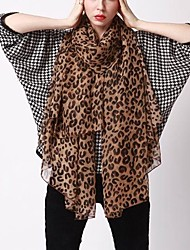 cheap -Women's Chiffon Rectangle Scarf - Leopard Basic / Fabric / Hair Scarf