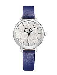 cheap -Women's Fashion Watch Quartz Leather Black / White / Blue Casual Watch Analog Ladies Fashion Minimalist - Red Pink Light Blue