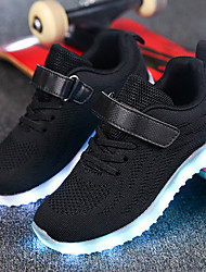 cheap -Boys' / Girls' LED / Comfort / LED Shoes Knit / Net Trainers / Athletic Shoes Little Kids(4-7ys) / Big Kids(7years +) Walking Shoes Lace-up / Hook & Loop / LED Black / Pink / Blue Spring / Fall