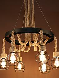 Недорогие -6-Light кластер Подвесные лампы Потолочный светильник Окрашенные отделки Металл Мини 110-120Вольт / 220-240Вольт Лампочки не включены / FCC / E26 / E27