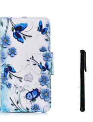 cheap -Case For Apple iPhone X / iPhone 8 Plus / iPhone 8 Wallet / Card Holder / Flip Full Body Cases Flower Hard PU Leather
