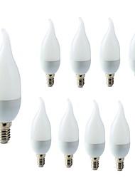 Недорогие -10 шт. 2 W LED лампы в форме свечи 200 lm E14 C35L 10 Светодиодные бусины SMD 2835 Декоративная Тёплый белый Холодный белый 220-240 V / RoHs
