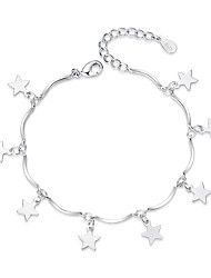 cheap -Women's Charm Bracelet Geometrical Ladies Sweet Fashion Alloy Bracelet Jewelry Silver For Gift Daily