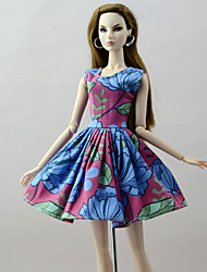 cheap -Doll Dress Dresses Damask Tulle Poly / Cotton Lace Linen / Polyester Blend Cotton Blend Handmade Toy for Girl's Birthday Gifts  / Kids