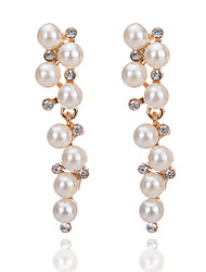 cheap -Women's Drop Earrings Ladies Fashion Elegant Imitation Pearl Imitation Diamond Earrings Jewelry White For Engagement Going out