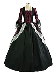 cheap -Lace Costume Red+Black Vintage Cosplay Party Prom Plus Size Customized