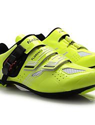 cheap -Tiebao® Road Bike Shoes Carbon Fiber Anti-Slip Cycling Black / Yellow Men's Cycling Shoes / Hook and Loop