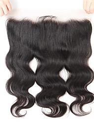 Недорогие -Guanyuwigs Бразильские волосы 4X13 Закрытие Волнистый Бесплатный Часть / Средняя часть / 3 Часть Швейцарское кружево Натуральные волосы Жен. С детскими волосами / Мягкость / Шелковистость