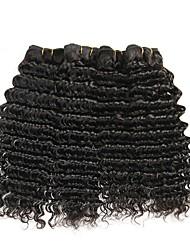 cheap -4 Bundles Brazilian Hair Deep Wave Human Hair Natural Color Hair Weaves / Hair Bulk One Pack Solution Human Hair Extensions 8-28 inch Natural Color Human Hair Weaves Hot Sale Cool Human Hair / 8A