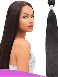 cheap -3 Bundles Indian Hair Straight Virgin Human Hair 300 g Natural Color Hair Weaves / Hair Bulk 8-28 inch Natural Color Human Hair Weaves Fashionable Design Soft Hot Sale Human Hair Extensions / 10A