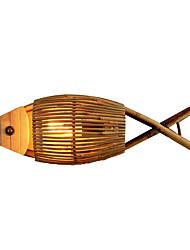 cheap -Mini Style Vintage Living Room / Bedroom Wood / Bamboo Wall Light 110-120V / 220-240V 40 W / E27