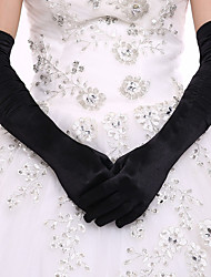 cheap -Spandex Elbow Length Glove Bridal Gloves / Party / Evening Gloves With Faux Pearl