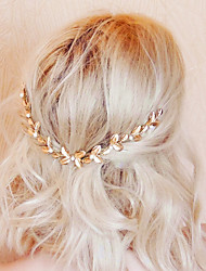 cheap -Alloy Hair Combs with Imitation Pearl 1pc Wedding / Party / Evening Headpiece