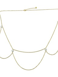 cheap -Women's Body Jewelry 89.5 cm Waist Chain Gold Circle Ladies / Rock Alloy Costume Jewelry For Prom / Bar 5.0*5.0*1.0 cm Summer