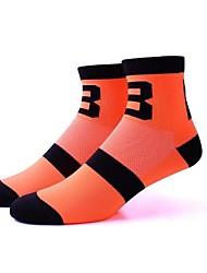 cheap -Compression Socks Ankle Socks Athletic Sports Socks Cycling Socks Men's Women's Cycling / Bike Bike / Cycling Anatomic Design Breathability Limits Bacteria 1 Pair Stripes Letter & Number Nylon